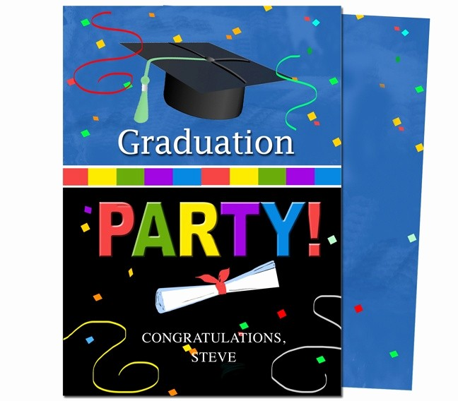 Free Graduation Party Invitations Templates Beautiful Graduation Party Invitations Templates Confetti