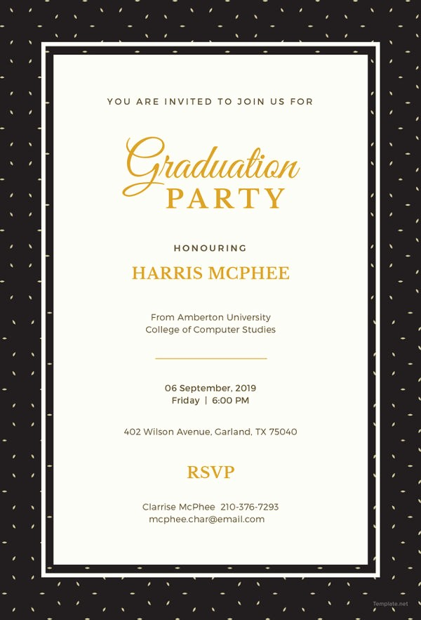Free Graduation Party Invitations Templates Best Of 19 Graduation Invitation Templates Invitation Templates