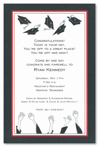 Free Graduation Party Invitations Templates Best Of Graduation Open House Invitation Templates