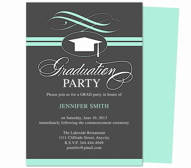 Free Graduation Party Invitations Templates Best Of Graduation Party Invitation Templates Swirl Graduation