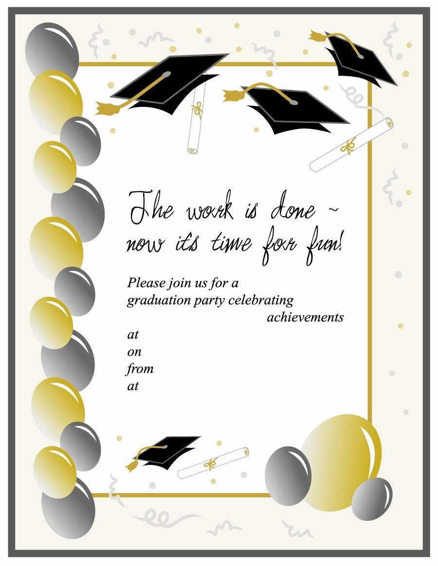 Free Graduation Party Invitations Templates Elegant 40 Free Graduation Invitation Templates Template Lab