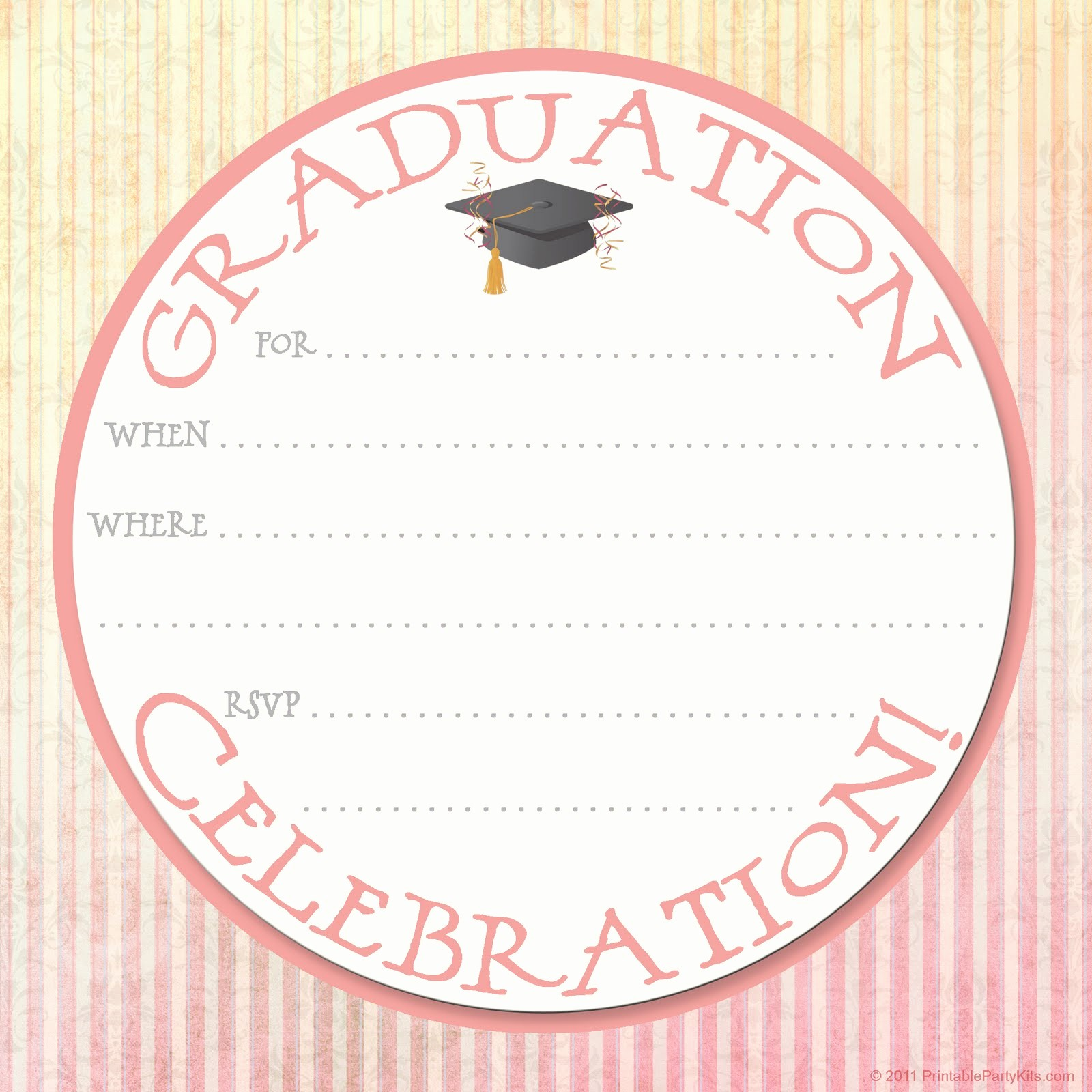 Free Graduation Party Invitations Templates Fresh Free Printable Party Invitations Graduation Party