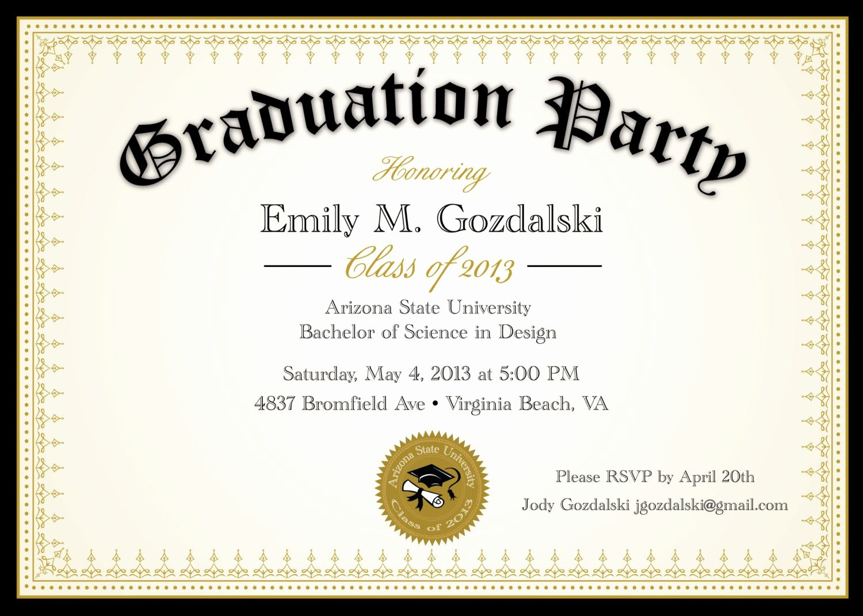 Free Graduation Party Invitations Templates Fresh Graduation Invitation Graduation Invitation Templates