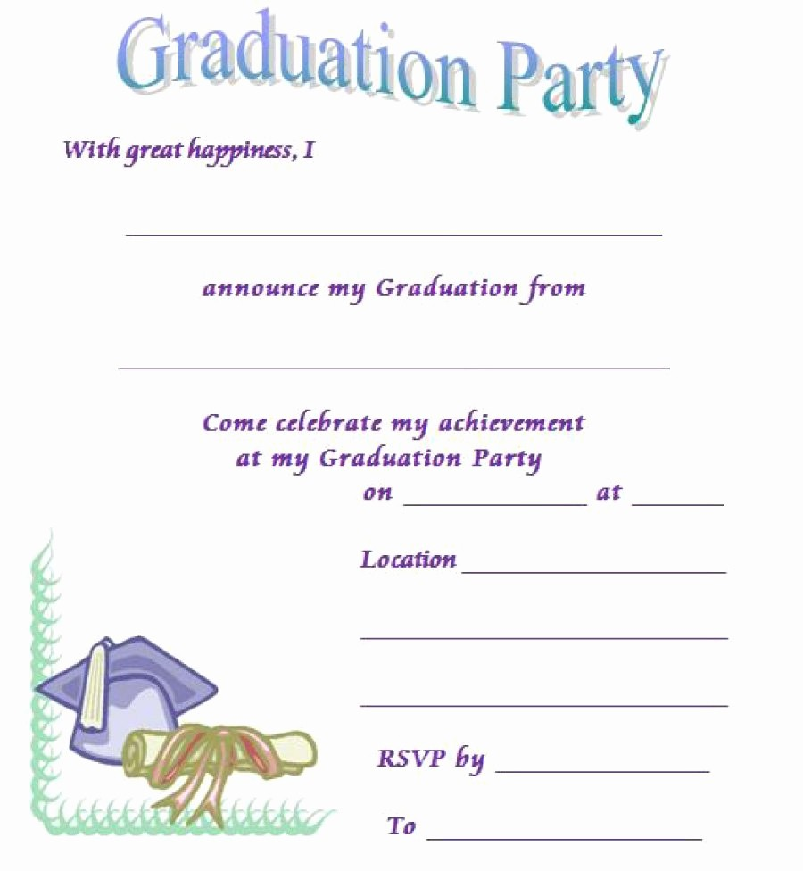 Free Graduation Party Invitations Templates Lovely 40 Free Graduation Invitation Templates Template Lab