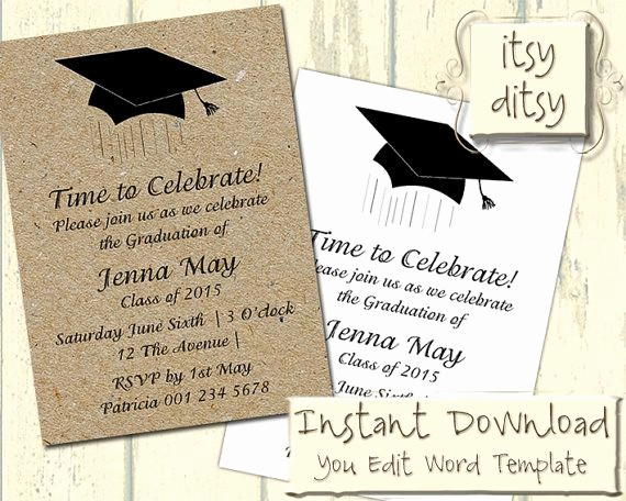 Free Graduation Party Invitations Templates Lovely Best 25 Graduation Invitation Wording Ideas On Pinterest