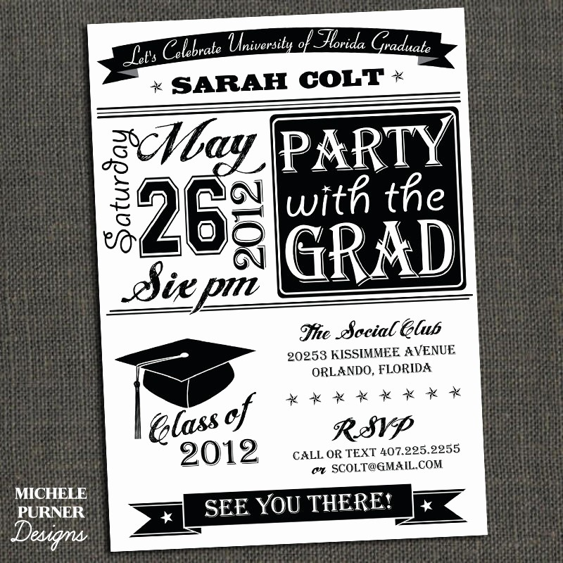 Free Graduation Party Invitations Templates Lovely College Graduation Party Invitations Template