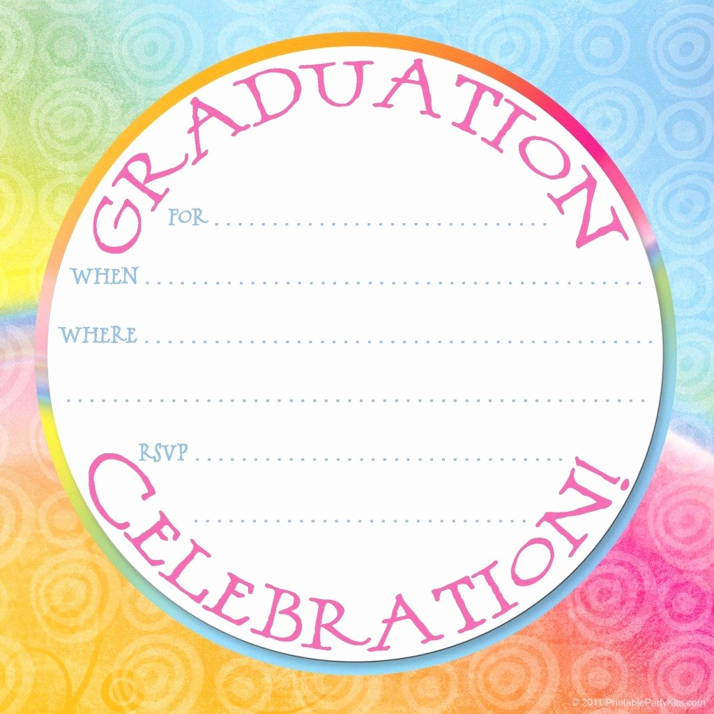 Free Graduation Party Invitations Templates Lovely Free Printable Graduation Party Invitation Template