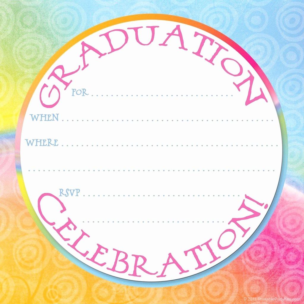 Free Graduation Party Invitations Templates Lovely Free Printable Graduation Party Invitation Template