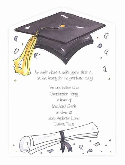 Free Graduation Party Invitations Templates Lovely Wording for Graduation Party Invitations Best Free