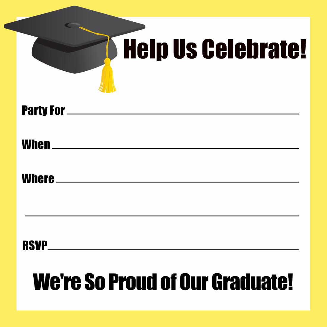 Free Graduation Party Invitations Templates Luxury Free Printable Graduation Party Invitations Templates