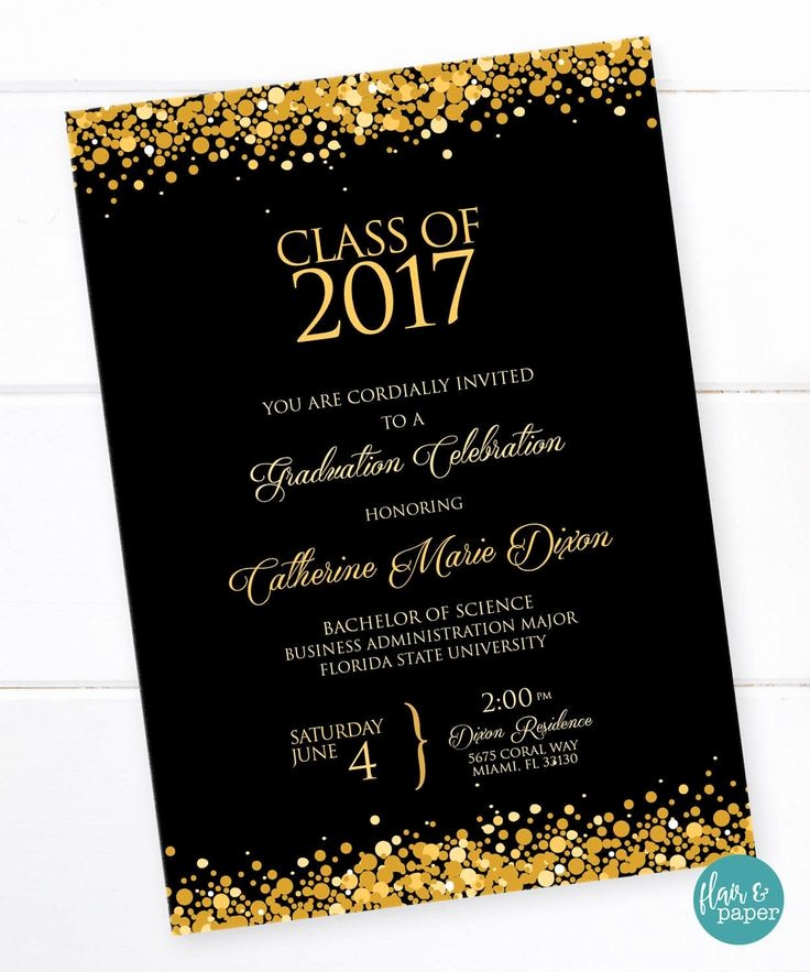 Free Graduation Party Invitations Templates New 25 Best Ideas About High School Graduation Invitations On
