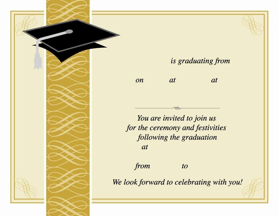 Free Graduation Party Invitations Templates New 40 Free Graduation Invitation Templates Template Lab