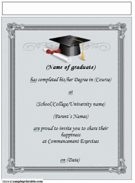 Free Graduation Party Invitations Templates Unique Printable Graduation Announcement Invitation Yep I M