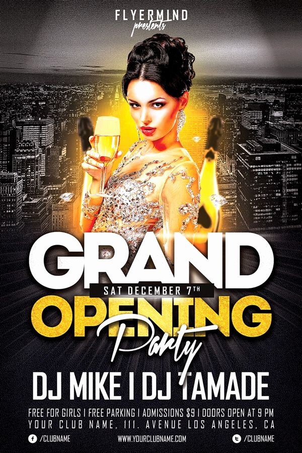 Free Grand Opening Flyer Template Awesome Free Flyer Template Grand Opening Party