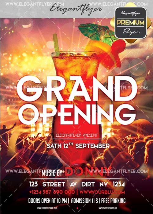 Free Grand Opening Flyer Template Awesome Grand Opening V42 Flyer Psd Template Cover Free