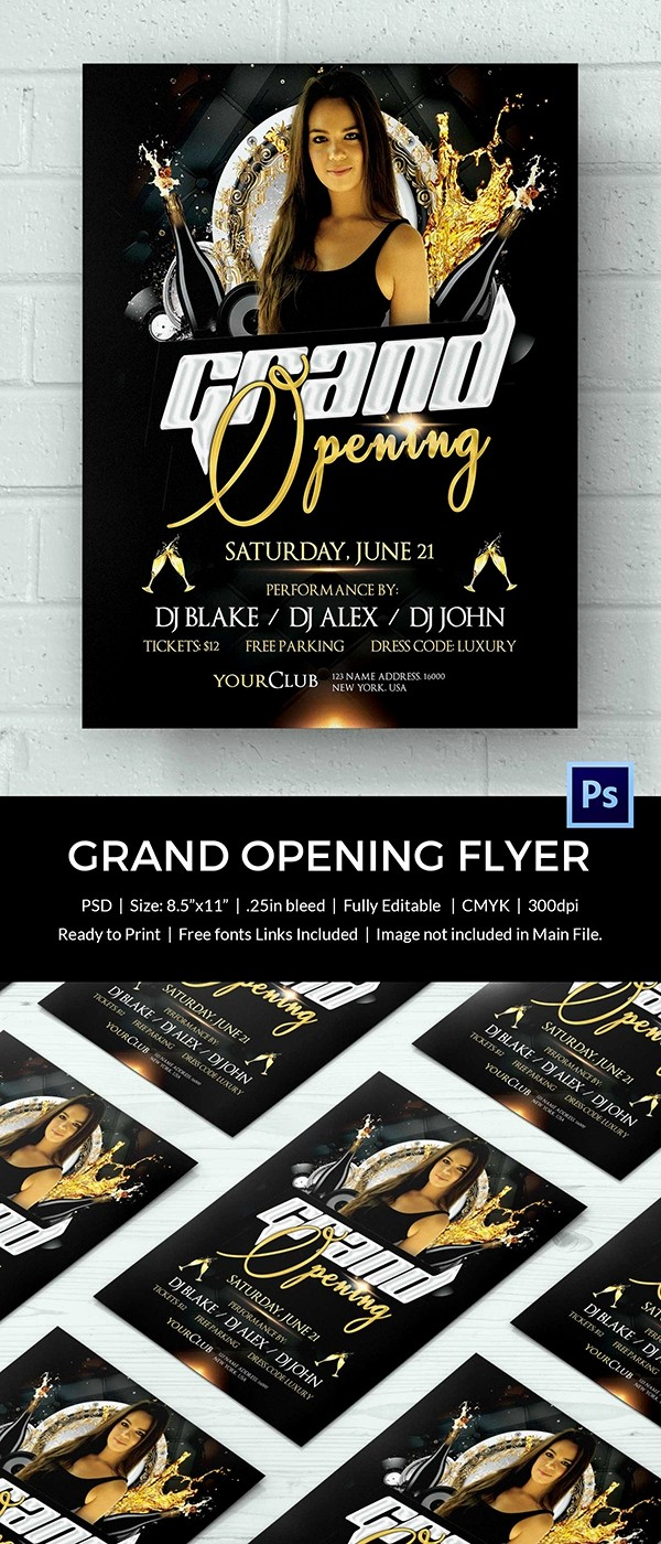 Free Grand Opening Flyer Template Beautiful Grand Opening Flyer Template 34 Free Psd Ai Vector