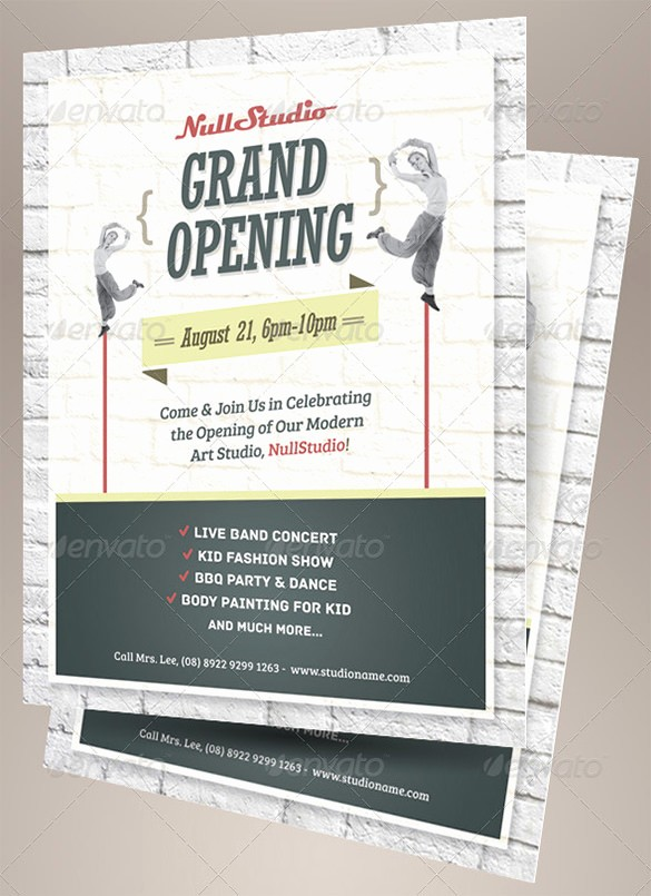 Free Grand Opening Flyer Template Best Of 41 Grand Opening Flyer Template Free Psd Ai Vector