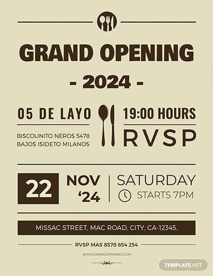 Free Grand Opening Flyer Template Best Of Free Pizza Flyer Template Download 416 Flyers In Psd