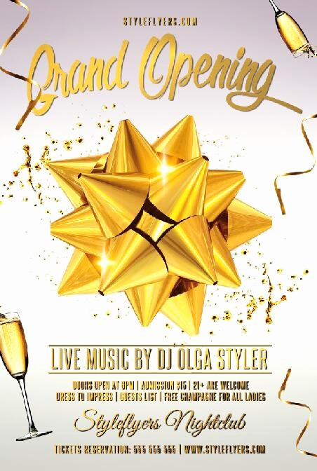 Free Grand Opening Flyer Template Best Of Grand Opening Flyer Psd Template Other Psd Free