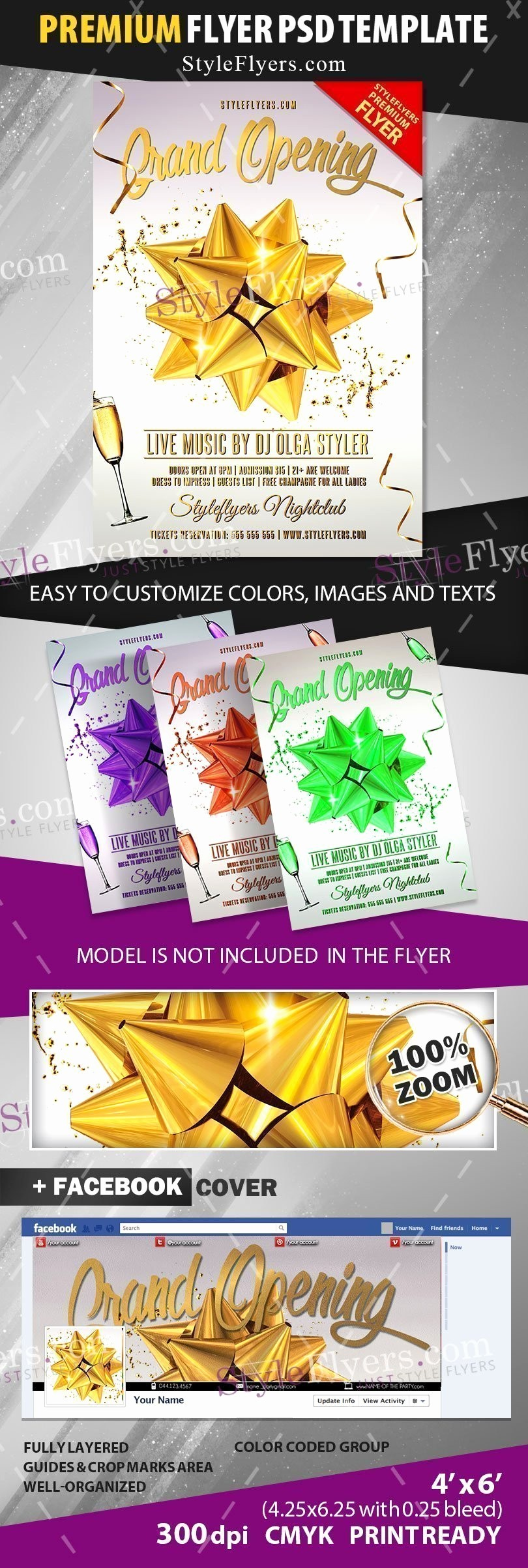 Free Grand Opening Flyer Template Best Of Grand Opening Psd Flyer Template Styleflyers
