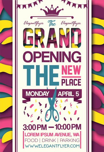 Free Grand Opening Flyer Template Fresh Free Grand Opening Flyer Templates – by Elegantflyer