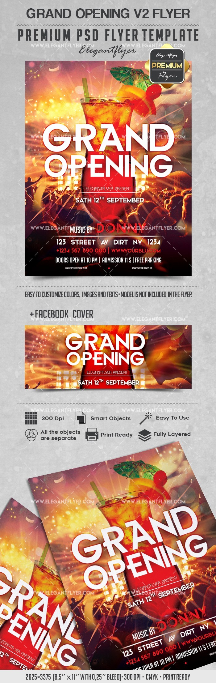 Free Grand Opening Flyer Template Fresh Grand Opening V2 – Flyer Psd Template – by Elegantflyer