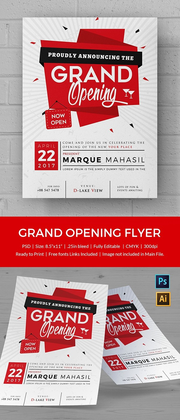 Free Grand Opening Flyer Template Inspirational Grand Opening Flyer Template 34 Free Psd Ai Vector