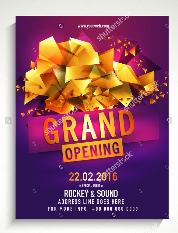Free Grand Opening Flyer Template Lovely 16 Grand Opening Flyer Templates