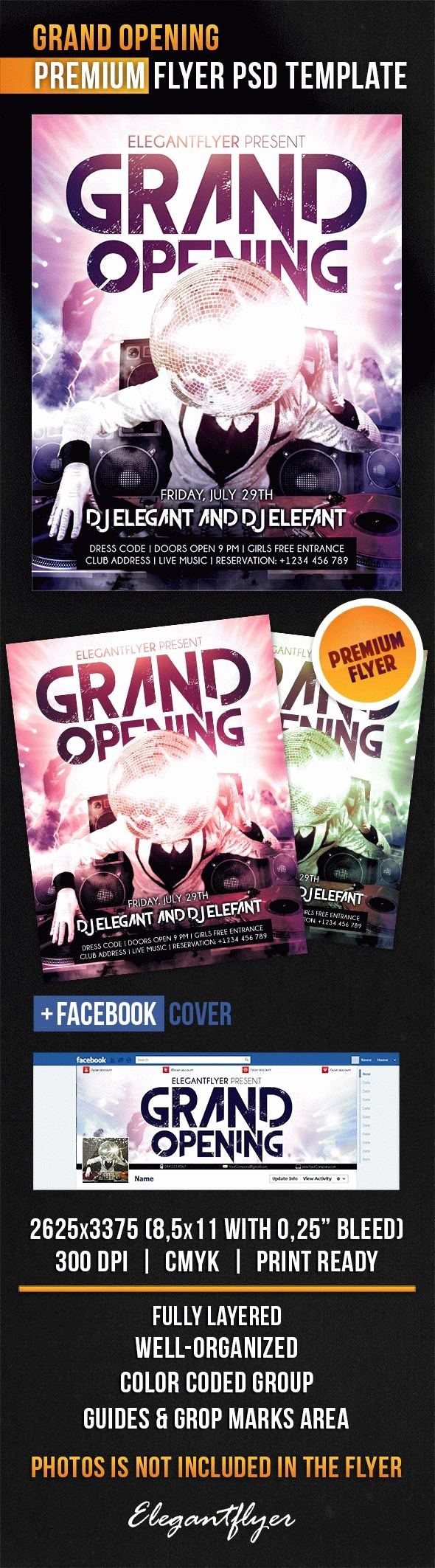 Free Grand Opening Flyer Template Lovely Dj for Grand Opening Flyer Template – by Elegantflyer