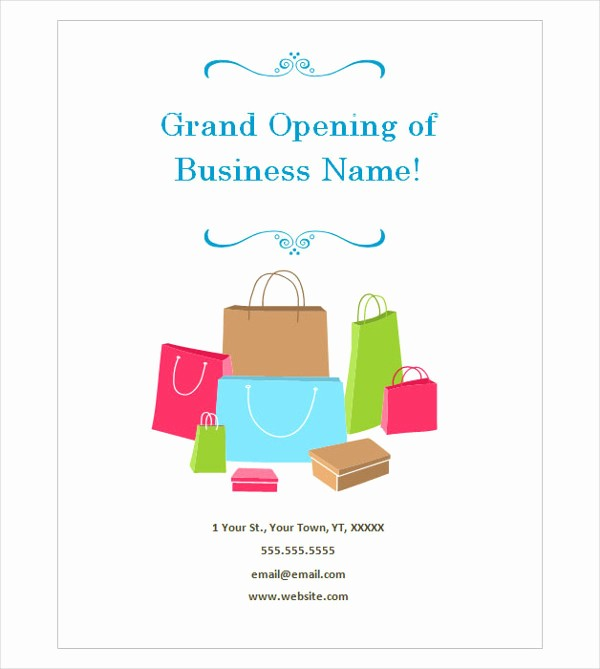 Free Grand Opening Flyer Template Luxury 45 Sample Flyer Templates