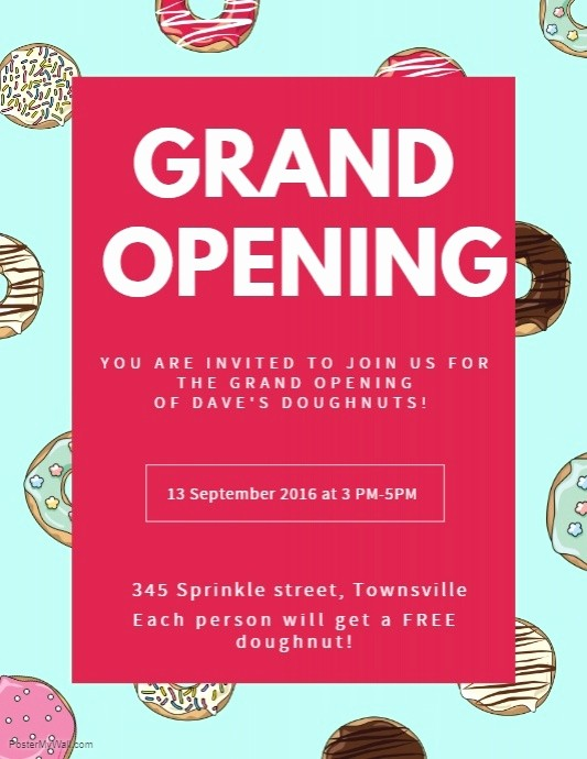 Free Grand Opening Flyer Template Luxury Create Grand Opening Flyers In Minutes