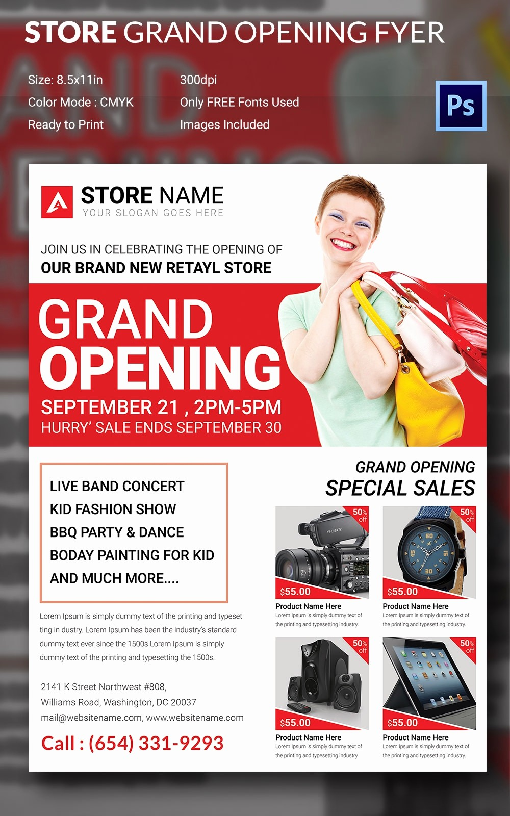 Free Grand Opening Flyer Template Luxury Grand Opening Flyer Template 34 Free Psd Ai Vector