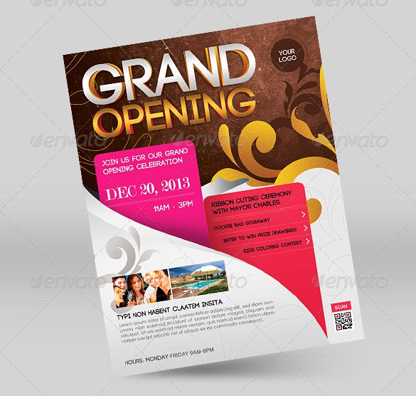 Free Grand Opening Flyer Template Unique 41 Grand Opening Flyer Template Free Psd Ai Vector