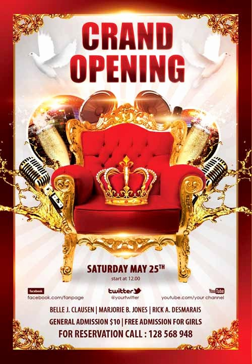 Free Grand Opening Flyer Template Unique Download the Grand Opening Party Free Flyer Template