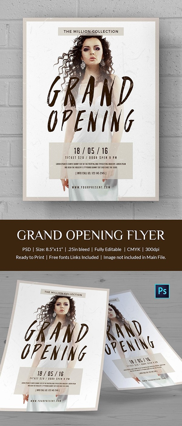 Free Grand Opening Flyer Template Unique Grand Opening Flyer Template 34 Free Psd Ai Vector