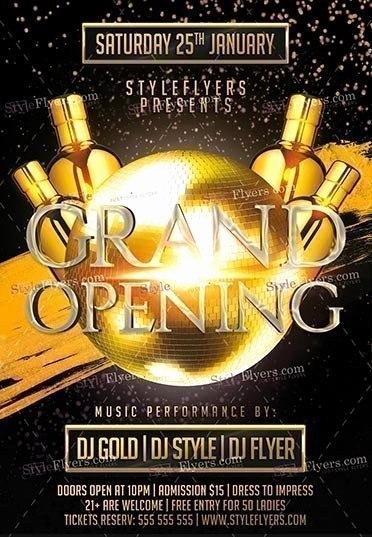 Free Grand Opening Flyer Template Unique Grand Opening Psd Flyer Template Styleflyers