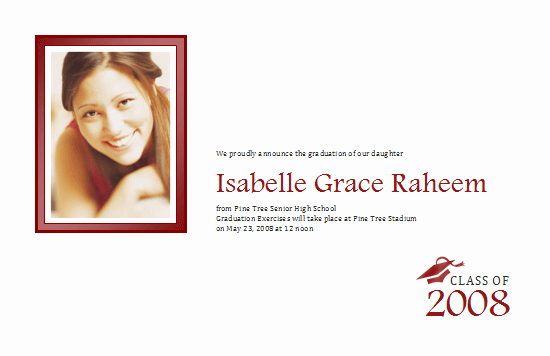 Free Half Page Flyer Template Lovely Download Graduation Announcement with Photo Half Page