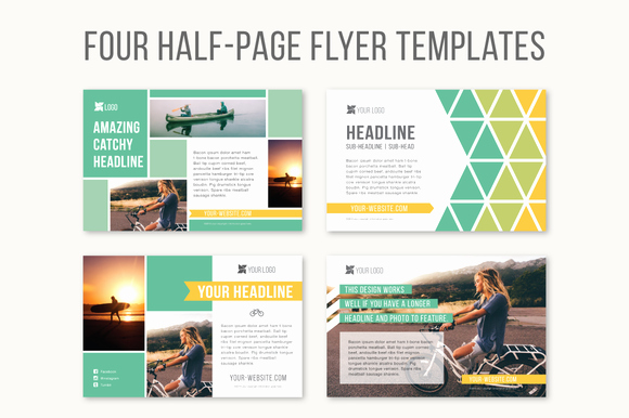 Free Half Page Flyer Template Luxury Half Page Print Graphic Templates Free In Design