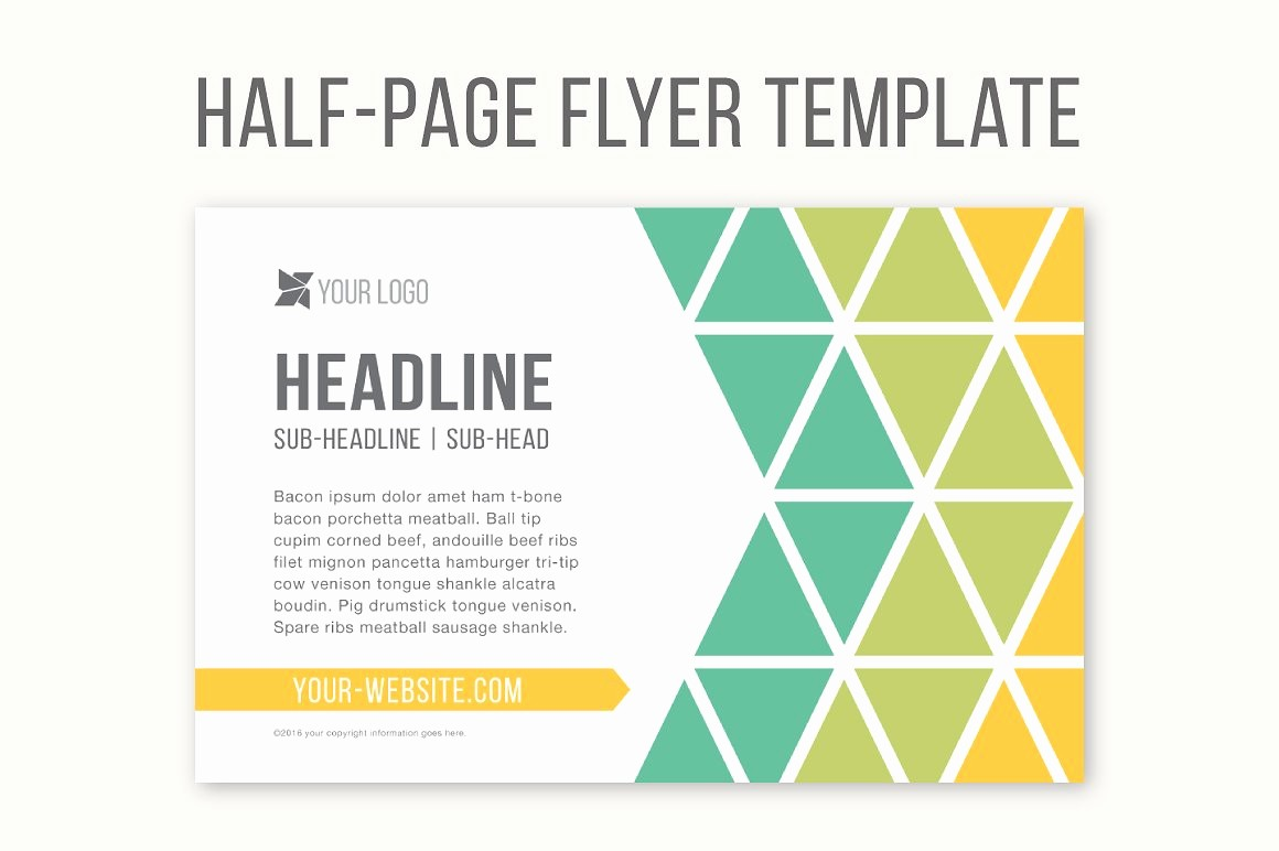Free Half Page Flyer Template New Half Page Flyer Template Templates Creative Market