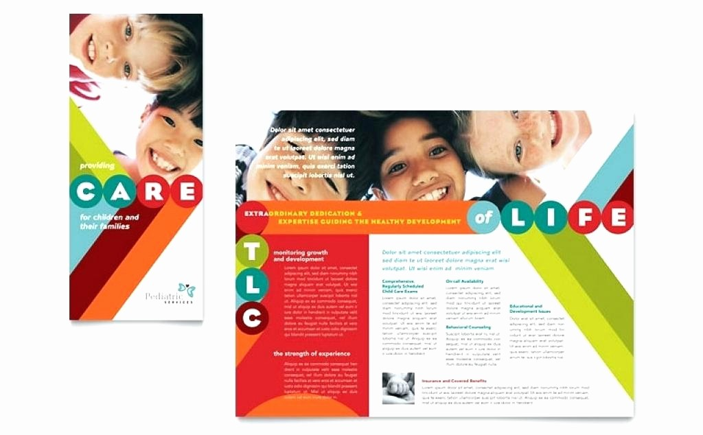 Free Half Page Flyer Template Unique E Page Brochure Template Word Half Flyers Free Vector