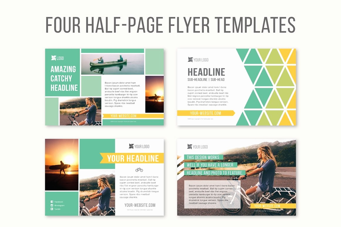 Free Half Page Flyer Template Unique Four Half Page Flyer Templates Templates Creative Market