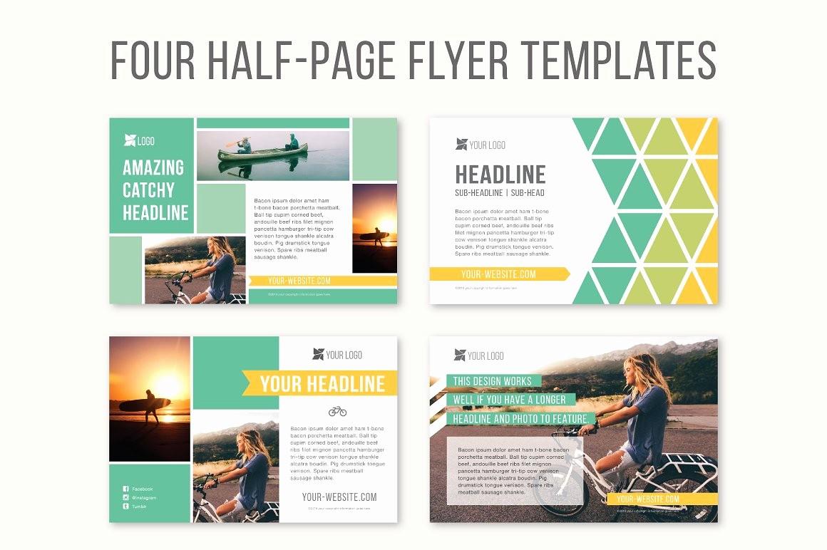 Free Half Page Flyer Template Unique Four Half Page Flyer Templates Templates Creative Market