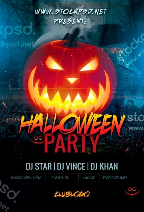 Free Halloween Party Flyer Templates Awesome 20 Free Halloween Flyers Psd Templates