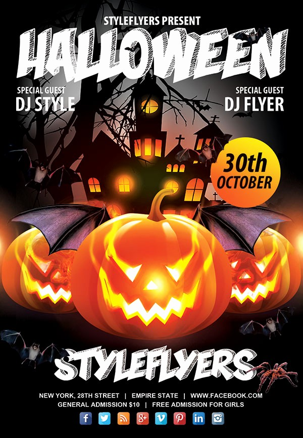 Free Halloween Party Flyer Templates Awesome 60 Free Halloween Posters Invitation Flyers & Print