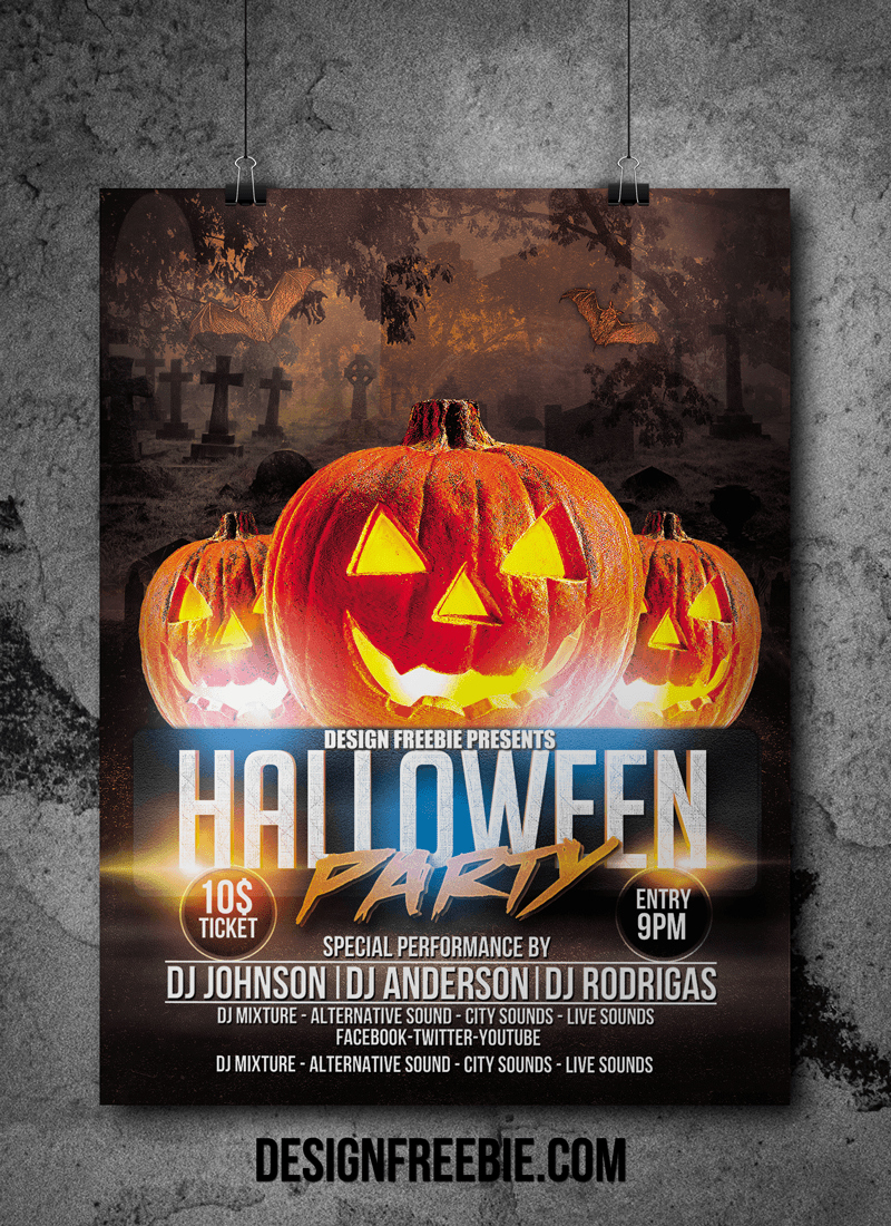 Free Halloween Party Flyer Templates Awesome Download This Free Halloween Party Flyer Template