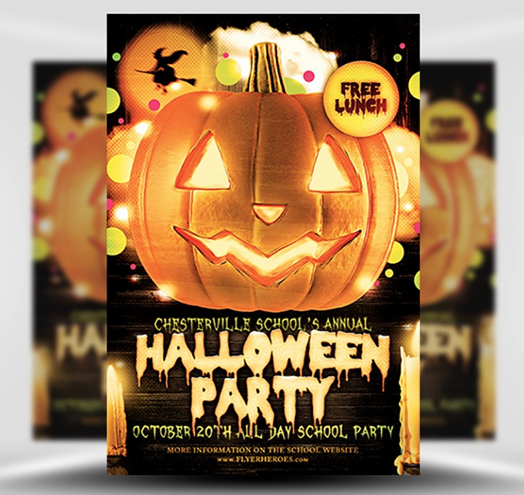 Free Halloween Party Flyer Templates Awesome Halloween Party Flyer Template 4 15 the Pumpkin
