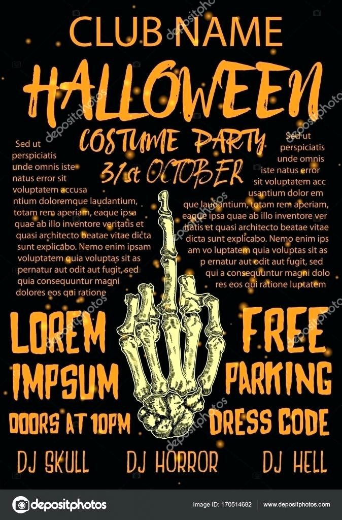 Free Halloween Party Flyer Templates Beautiful Halloween Costume Party Flyer Templates Template – Picks