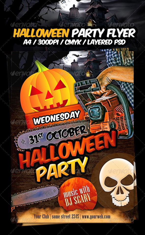 Free Halloween Party Flyer Templates Beautiful Halloween Party Flyer Template by Dodimir