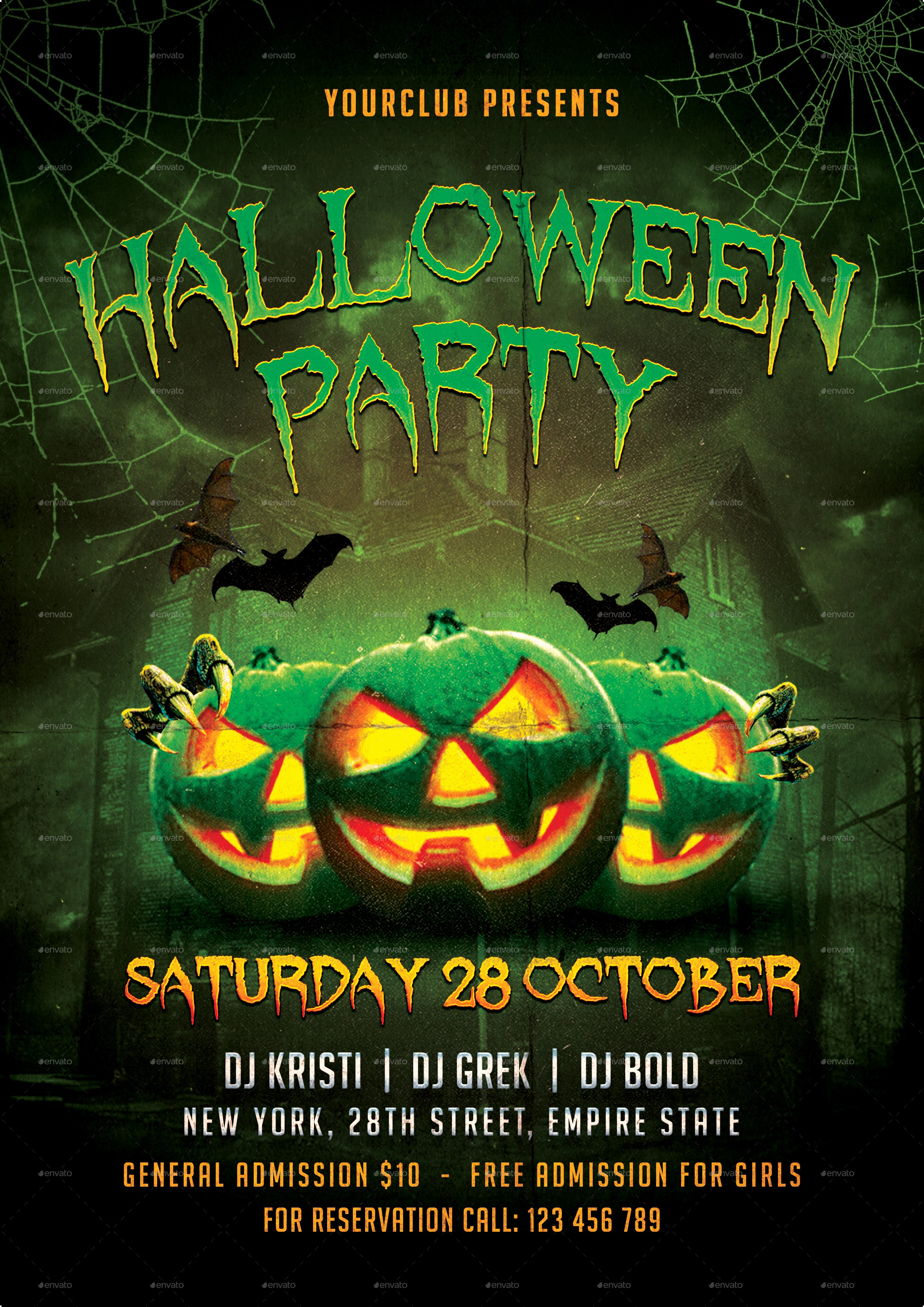 Free Halloween Party Flyer Templates Best Of Halloween Party Flyer by totemdesigns
