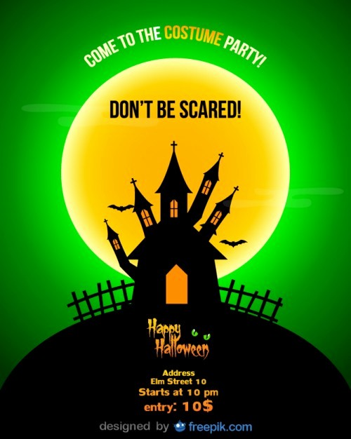 Free Halloween Party Flyer Templates Best Of Halloween Party Flyer Template and A Full Moon Vector